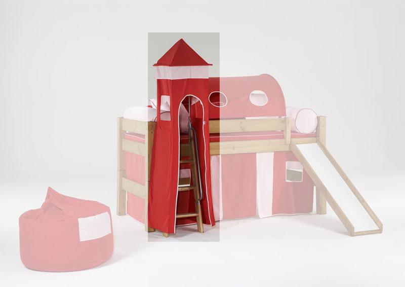 Etagenbett Zubehör Tunnel : Er tunnel für hochbett spielbett etagenbett in pink rosa